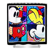 Mickey Colors Shower Curtain