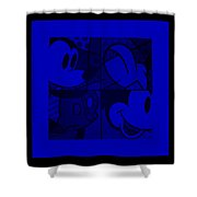 Mickey In Blue Shower Curtain