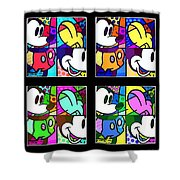 Mickey In Colors Shower Curtain