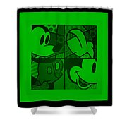 Mickey In Green Shower Curtain