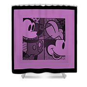 Mickey In Light Pink Shower Curtain