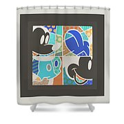 Mickey In Negative Shower Curtain