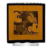 Mickey In Orange Shower Curtain