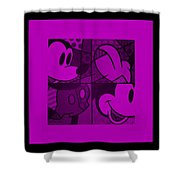 Mickey In Purple Shower Curtain