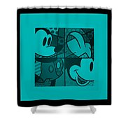 Mickey In Turquois Shower Curtain