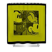 Mickey In Yellow Shower Curtain