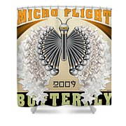 Micro Flight Butterfly Shower Curtain