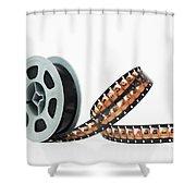 Microfilm Shower Curtain