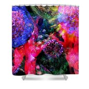 Microscope Dreaming 4 Shower Curtain