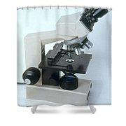 Microscope Shower Curtain