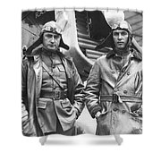 Mid-air Refueling Aviators At Rockwell Shower Curtain