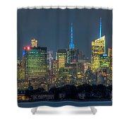 Mid-town Manhattan Twilight I Shower Curtain
