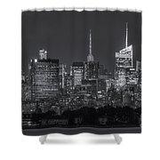 Mid-town Manhattan Twilight II Shower Curtain