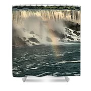 Middle America Rainbow Shower Curtain
