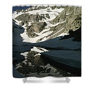 Middle Palisade Peak Reflects In Finger Shower Curtain