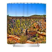 Midgley Bridge Sedona Arizona Shower Curtain