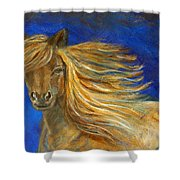 Midnight Amber Shower Curtain