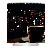 Midnight Brew Shower Curtain