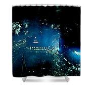 Midnight Fireworks  1 January Town Hall Copenhagen 2 Shower Curtain