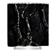 Midnight Tree 3 Shower Curtain