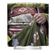 Midsection Of Apprentice Geisha - Maiko Shower Curtain