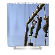 Midshipmen Tackle The Ropes Portion Shower Curtain