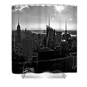 Midtown South Bw Shower Curtain