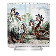 Midwest Copperheads, 1863 Shower Curtain