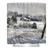 Midwestern Ice Storm - D004825 Shower Curtain