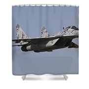 Mig-29 Of The Slovak Air Force Shower Curtain