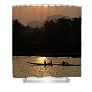 Mighty Mekong Shower Curtain