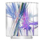 Mikado-b Shower Curtain