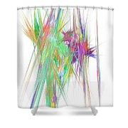 Mikado-v Shower Curtain