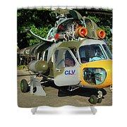 Mil Mi-2 Hoplite Shower Curtain
