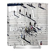 Milan Duomo Square Shower Curtain