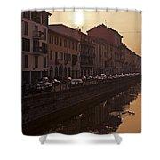 Milan Naviglio Grande Shower Curtain