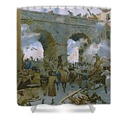 Milanese Chasing Out Austrians Shower Curtain