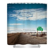 Milepost At The Dempster Highway Shower Curtain