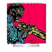 Miles Davis Full Color Shower Curtain
