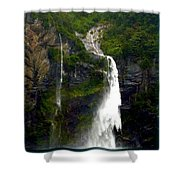 Milford Sound Waterfall Shower Curtain