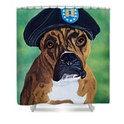 Military Boxer Shower Curtain