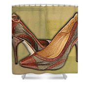 Military Camouflage Stilettos With Tassels Shower Curtain