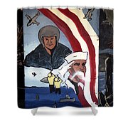 Military Mural Shower Curtain