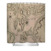 Military Plan Of The North Part Of Rhode Island Shower Curtain