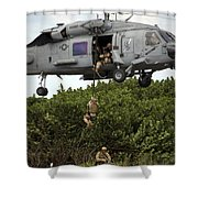 Military Reserve Navy Seals Demonstrate Shower Curtain by Michael Wood