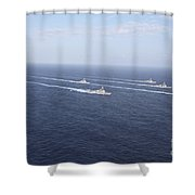Military Ships Transit The Philippine Shower Curtain