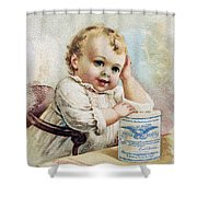 Milk Trade Card, 1893 Shower Curtain