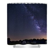 Milky Way And Perseid Meteor Shower Shower Curtain