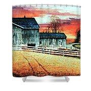 Mill Creek Farm Shower Curtain