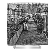 Mill Industry Shower Curtain
